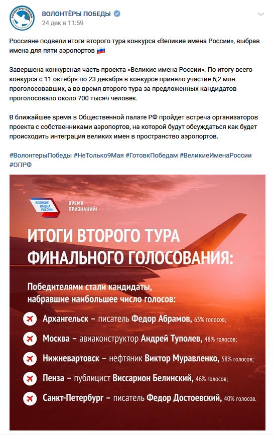 20181224_11-59-Россияне подвели итоги второго тура конкурса «Великие имена России», выбрав имена для пяти аэропортов-scr1