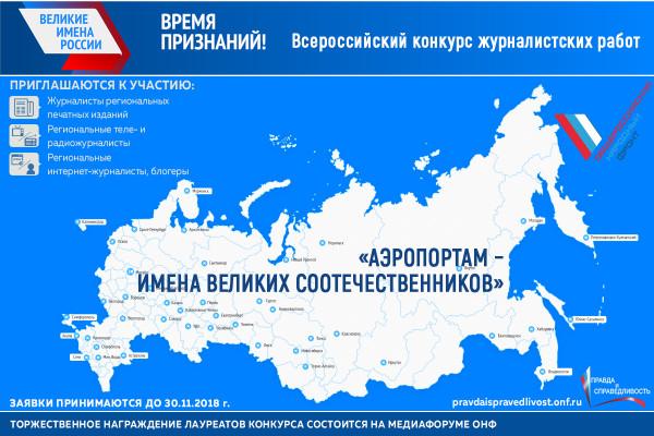 Положение о Всероссийском конкурсе журналистских работ «Аэропортам — имена великих соотечественников»