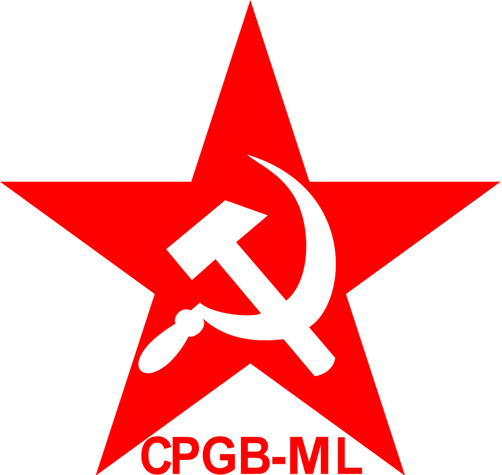 The emblem of the Communist Party of Great Britain (Marxist–Leninist); a Marxist-Leninist political party in the United Kingdom