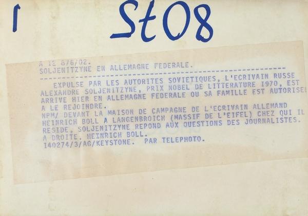 Солженицын, А. [автограф] Лот из двух предметов-pic2b