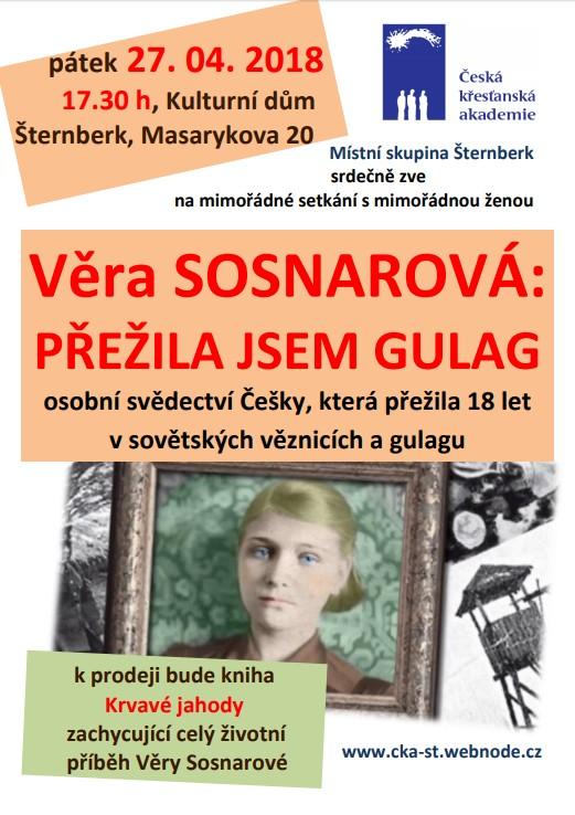 20180427-Beseda - Vera Sosnarova- prezila jsem Gulag