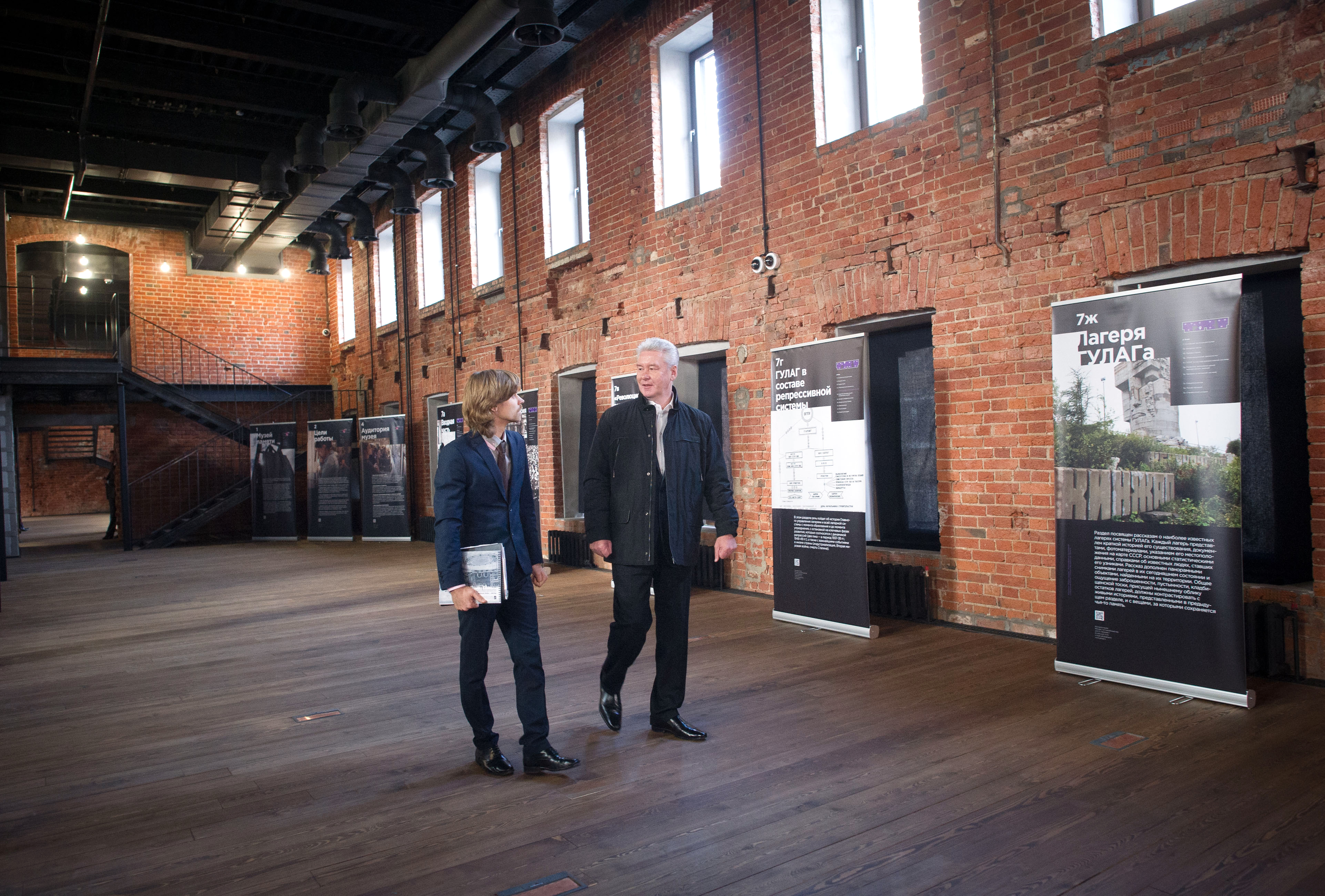 Сергей Собянин во время осмотра нового здания Музея истории ГУЛАГа-pic2