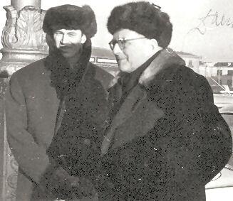 Д.Шостакович и А.Беседин в Минске. 20 марта 1963 г.