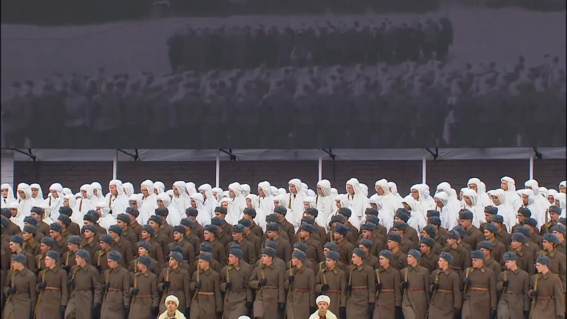 14-Марш в честь годовщины парада на Красной площади 1941-го года в Москве. Прямая трансляция