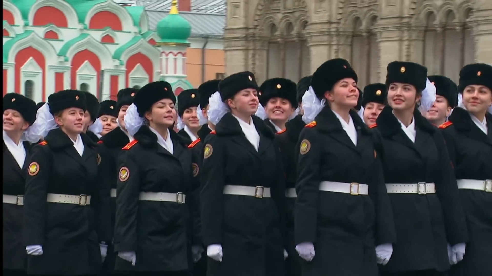 51-Марш в честь годовщины парада на Красной площади 1941-го года в Москве. Прямая трансляция