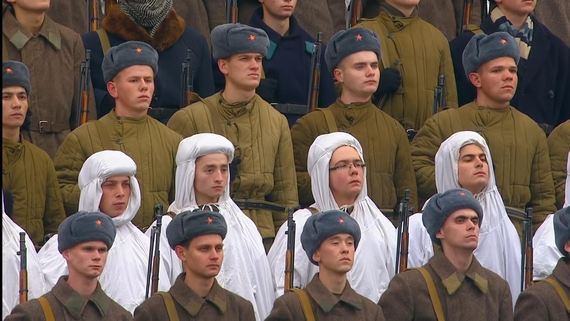 58-Марш в честь годовщины парада на Красной площади 1941-го года в Москве. Прямая трансляция