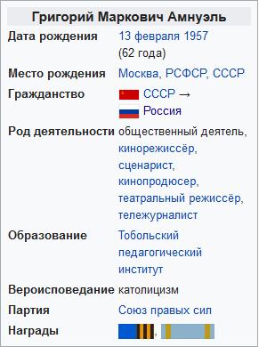 Григорий Маркович Амнуэль-Википедия