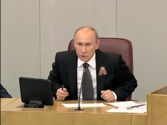 01-Путин- -СССР ничего не производил, кроме галош!-  8.05.2012