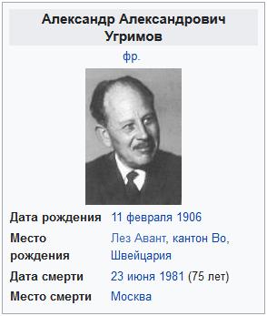 Угримов, Александр Александрович-Википедия