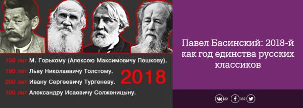 20171126-Павел Басинский- 2018-й как год единства русских классиков