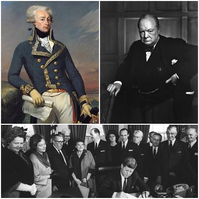 Упоминаемые в тексте «лишь два человека», удостоенные этого звания, — маркиз де Лафайет и Уинстон Черчилль.