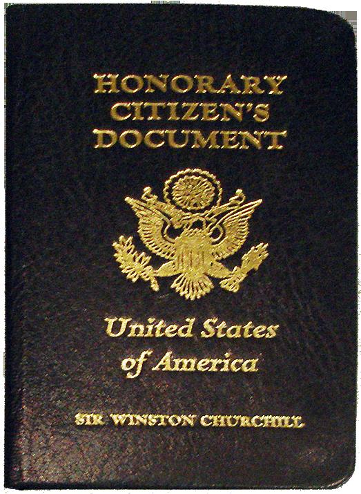 Паспорт почётного гражданина Черчилля