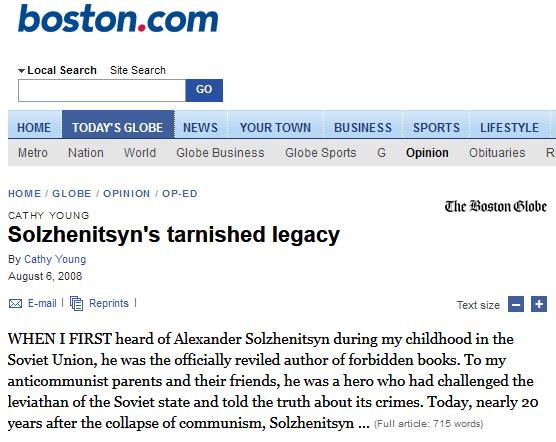 20080806-Solzhenitsyn's tarnished legacy