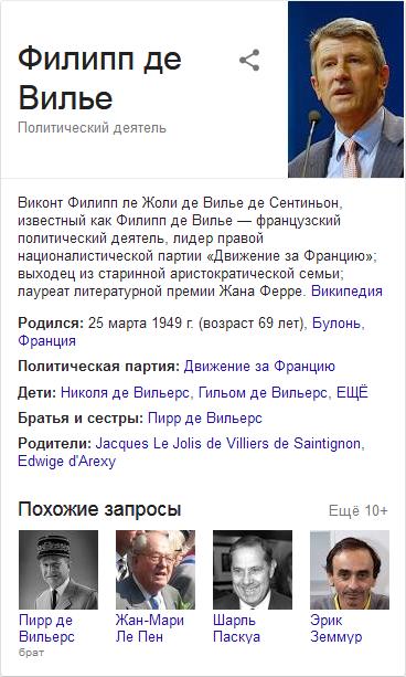 Филипп де Вилье-Google