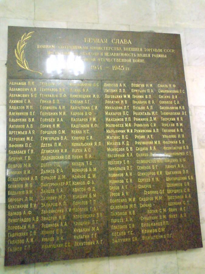 V-21-Список погибших сотрудников Министерства внешней торговли СССР