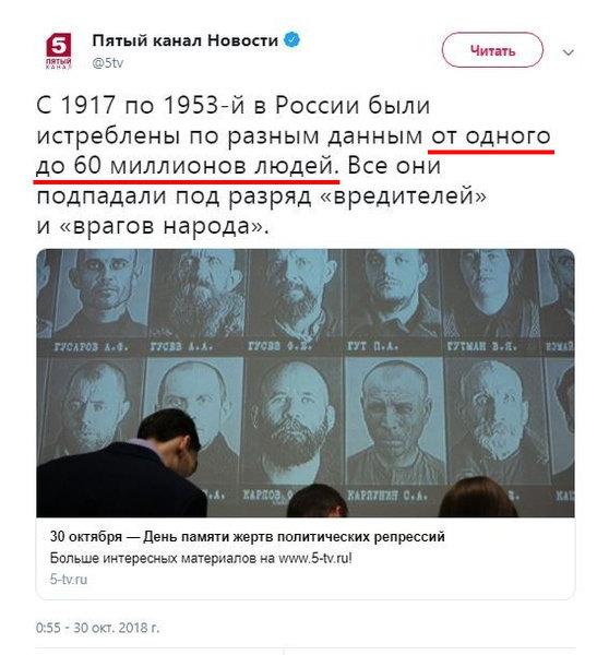 Российские СМИ о репрессиях