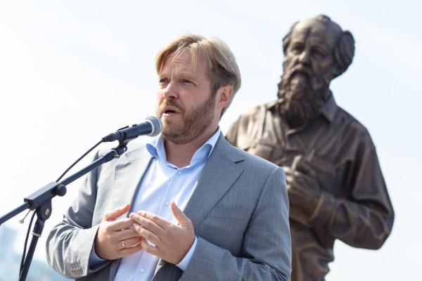 20150905-Памятник Александру Солженицыну открыли во Владивостоке-picA