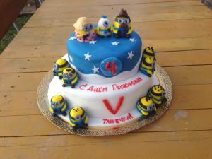 Торт двухэтажный для мальчика