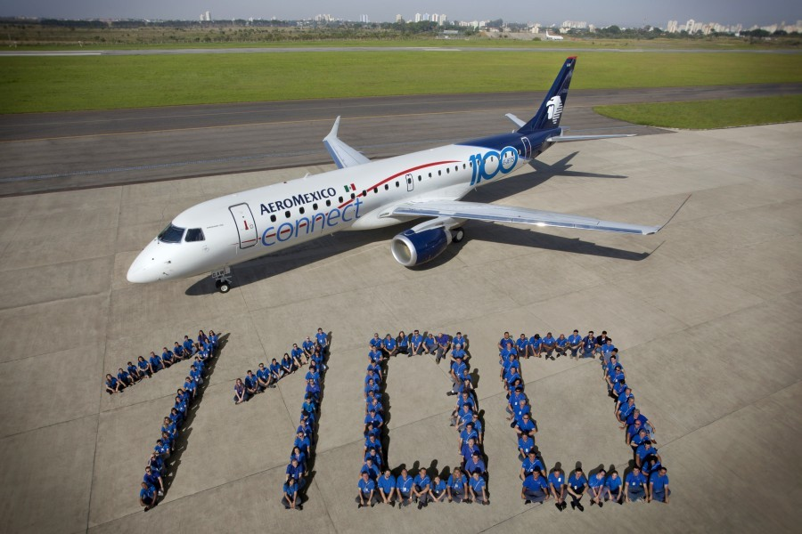 Aeromexico-receives-1100th-Embraer-E-Jet