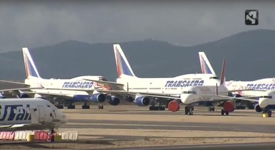 Самолеты Трансаэро уже в Испании г.Теруэль