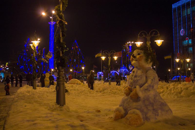 Парад снеговиков в Виннице.