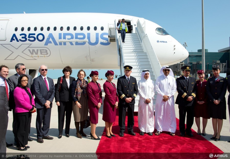 A350_XWB_welcomed_in_Doha___2_