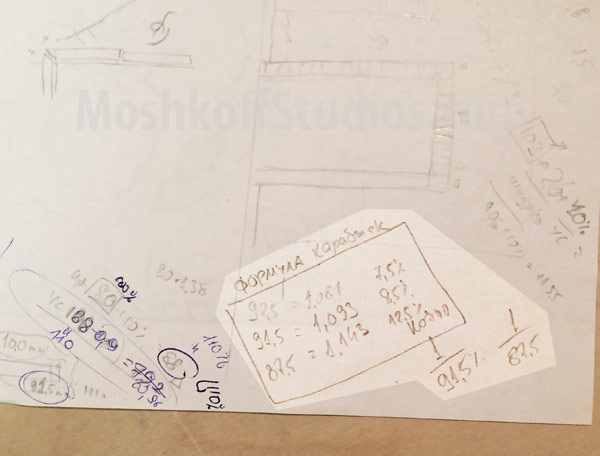 Пример расчёта архитектурной плитки ручной формовки MoshkoffStudios.com