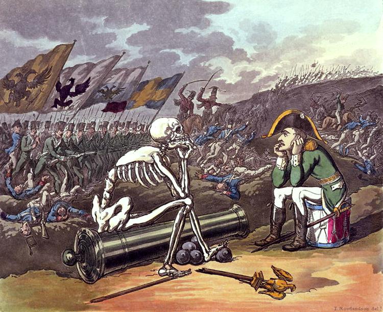 наполеон после битвы карриткатура