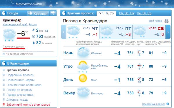 Мороз и дождь_