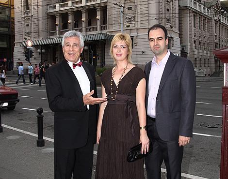 Митич с детьми Драгана Анной и Александром