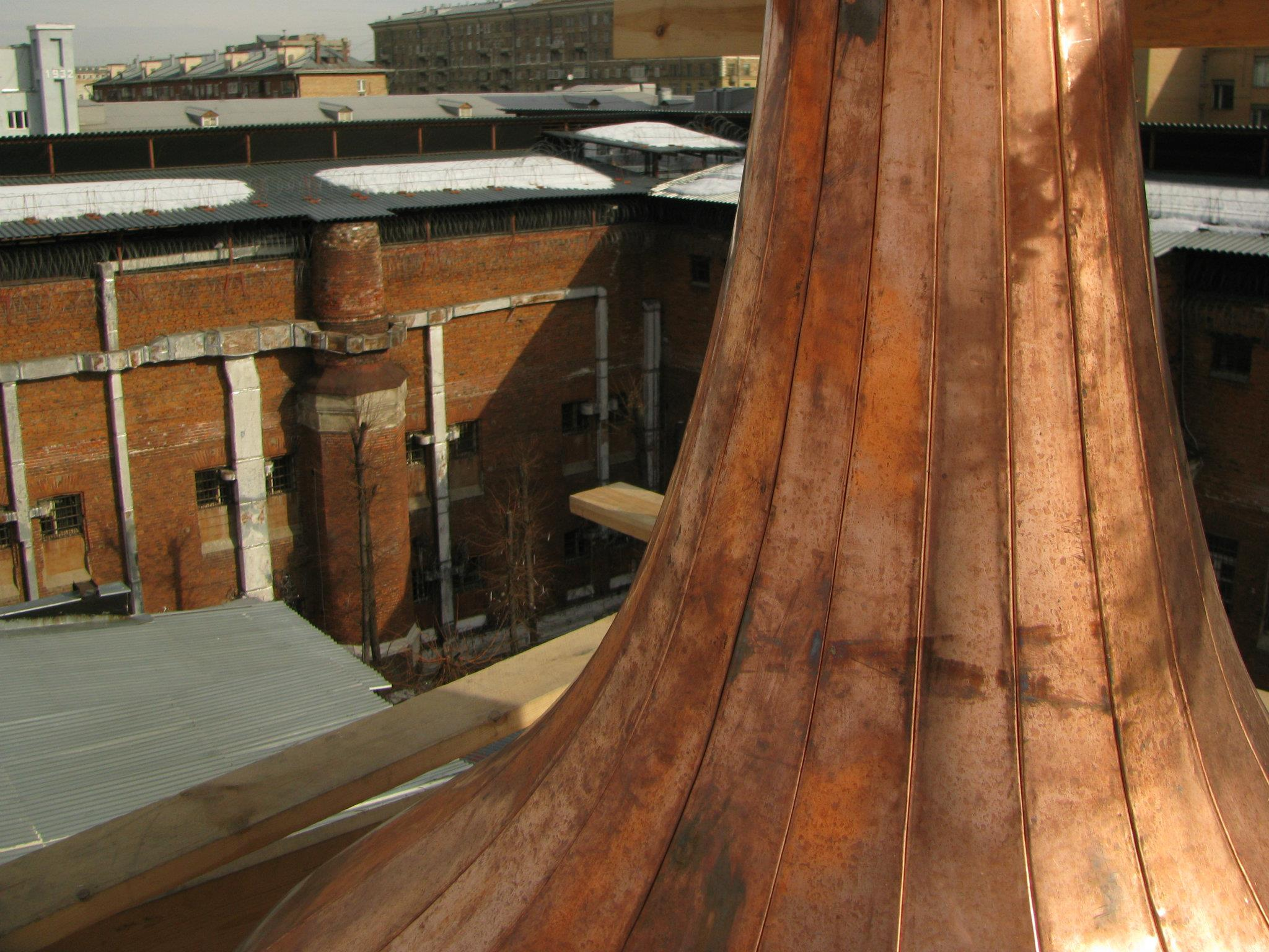 установка купола Бутырского храма
