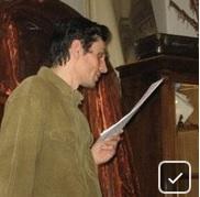 Андрей Травин читает свои стихи в Доме Булгакова