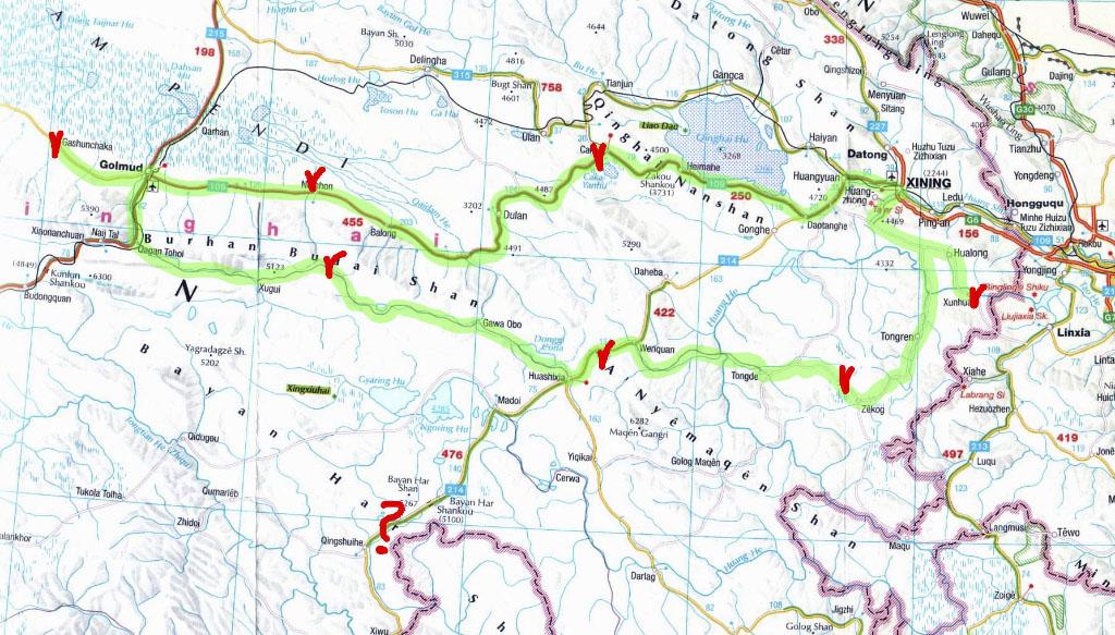 Route_tibet