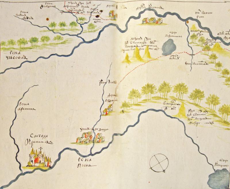 Уктусский завод на старой карте