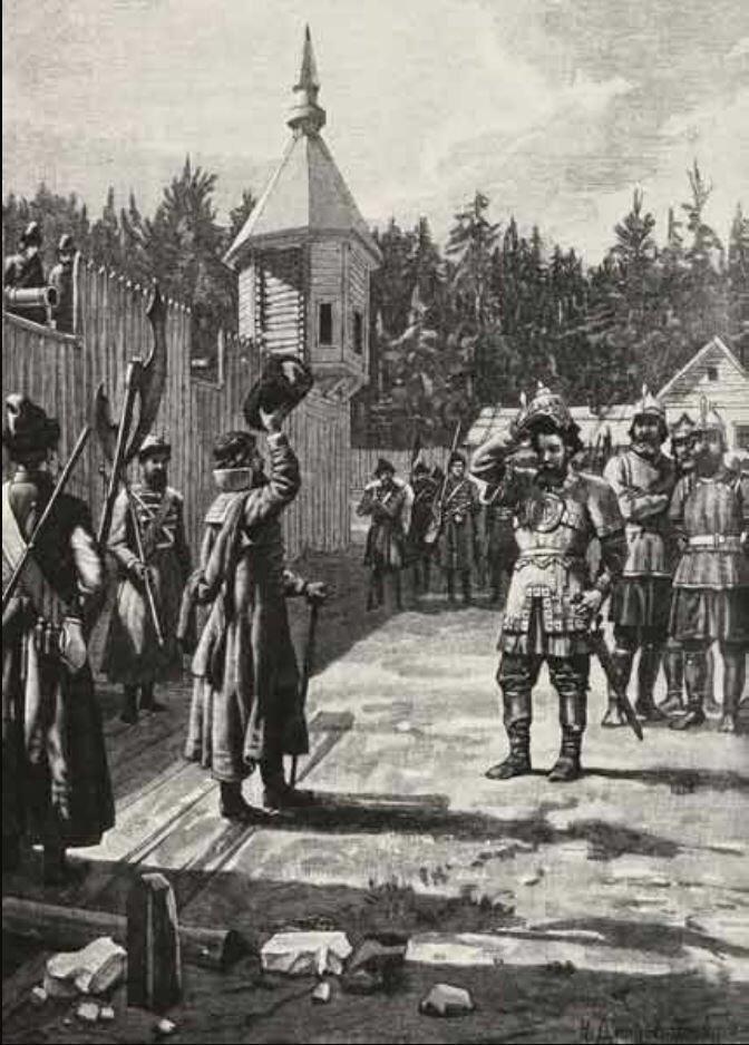 Ермак прибыл к Строгановым