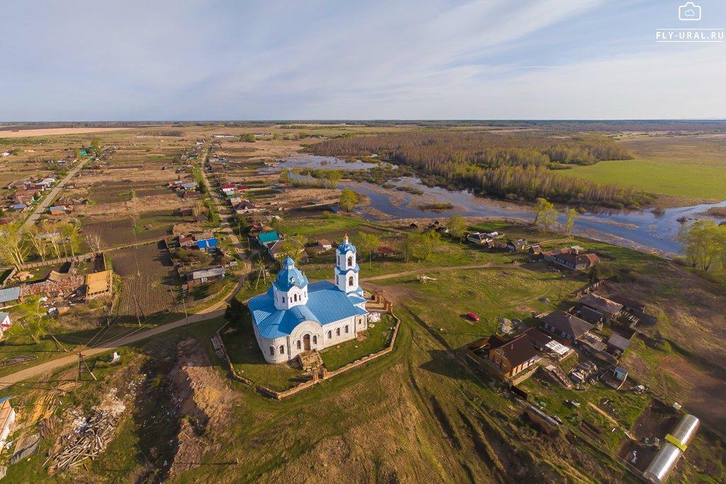 Село Булзи и Покровский храм