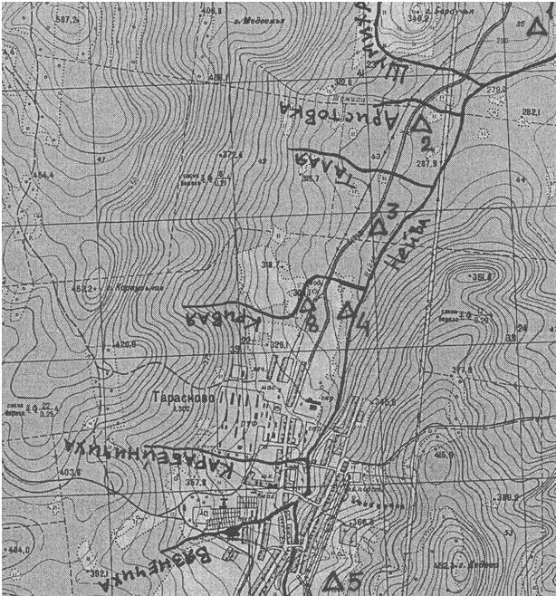 Карта Павла Исакова в черновом варианте