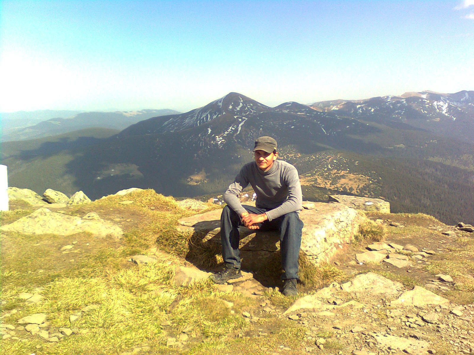 hoverla view from petros