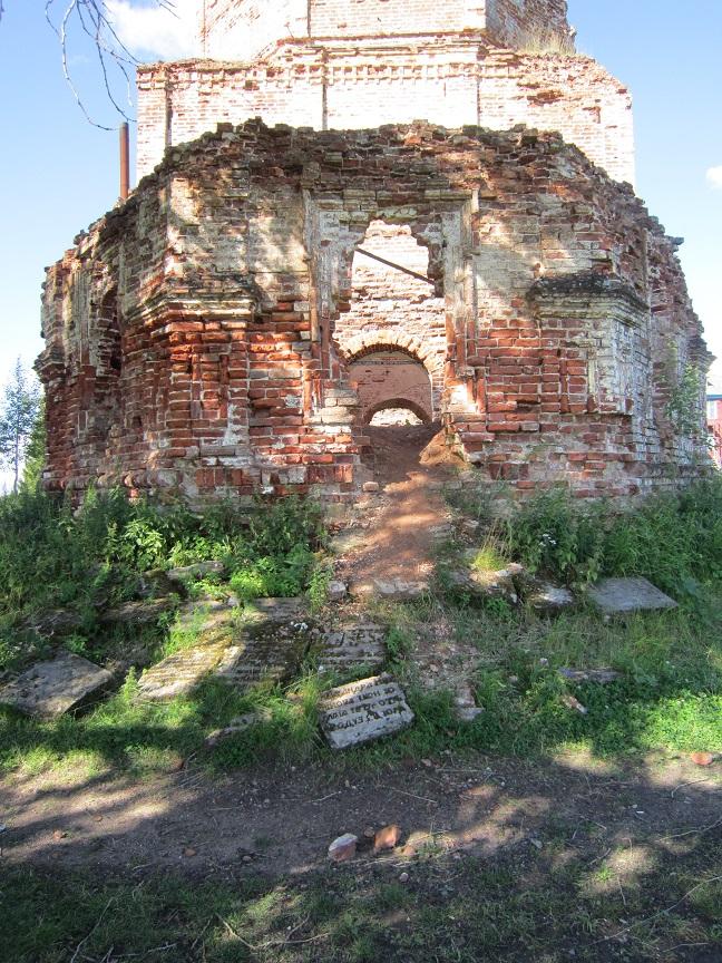 Руины Красногорского монастыря в Пинежском районе
