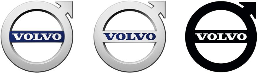 изменения логотипа volvo