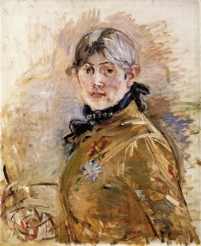 Автопортрет Берта Моризо 1885, 50 × 61 см Музей Мармоттан Моне, Париж