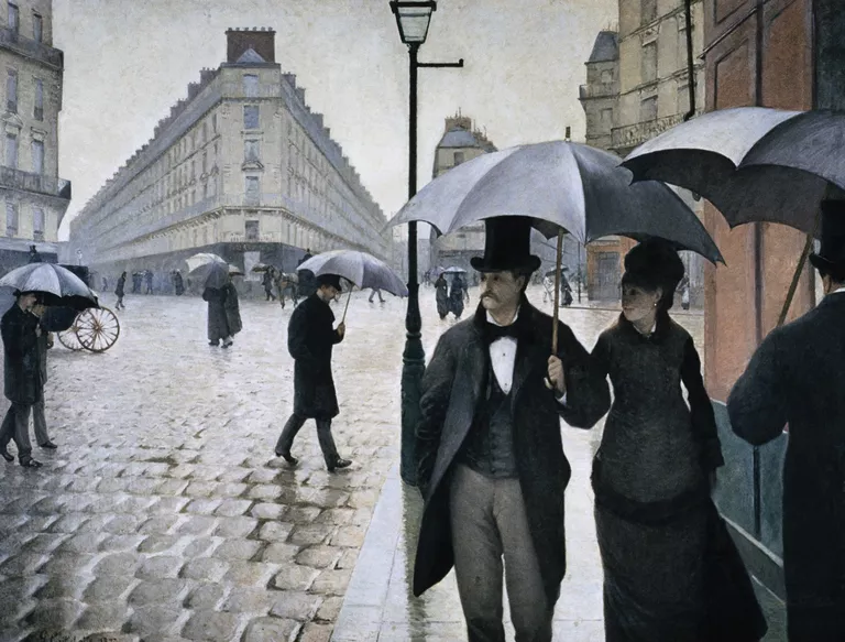 Гюстав Кайботт «Парижская улица в дождливую погоду» (1877). Художественный институт Чикаго