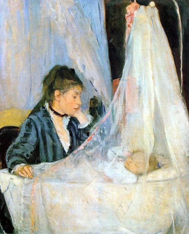 В колыбели Берта Моризо 56 × 46 см , 1872 г.