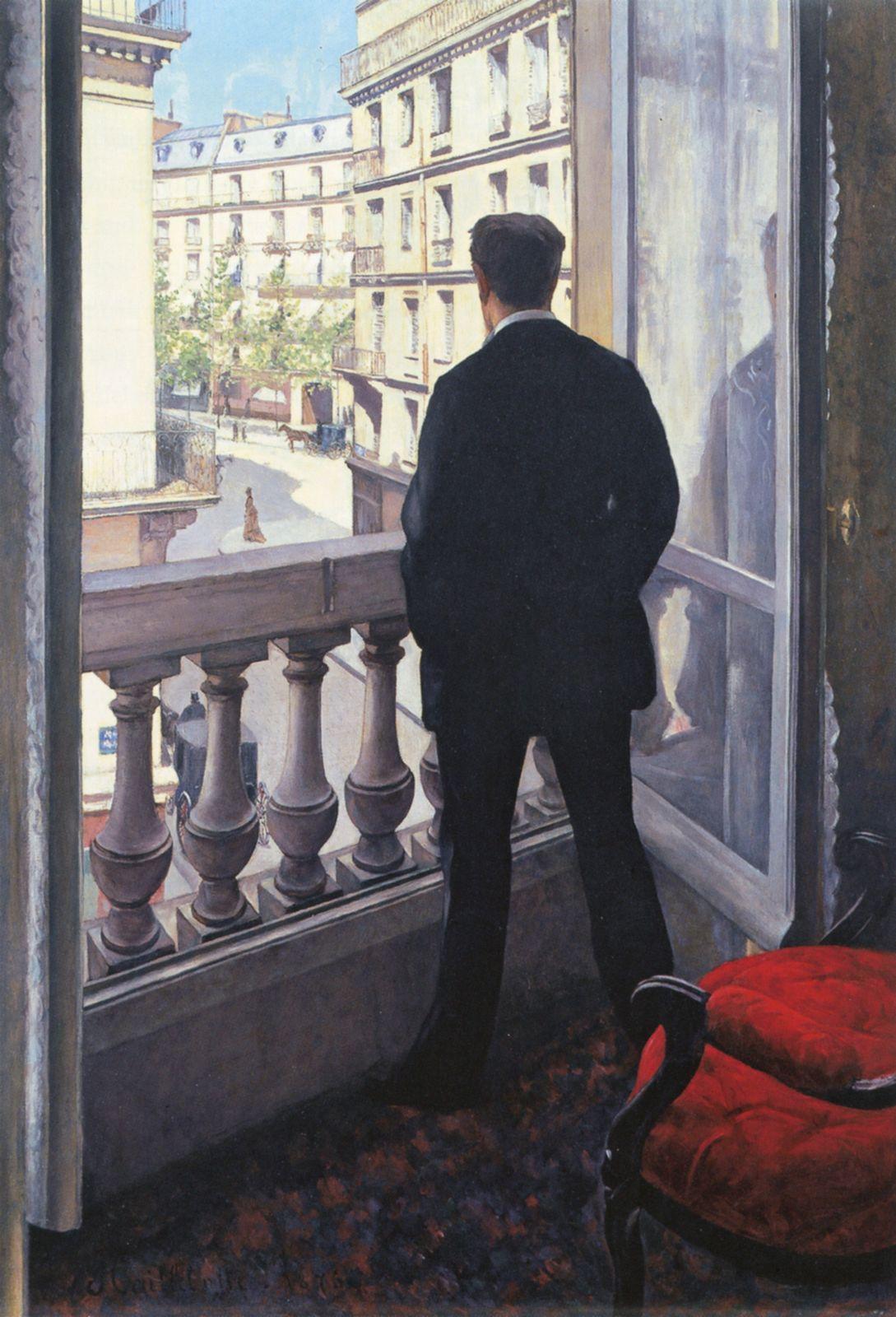 Гюстав Кайботт, «Молодой человек у окна» (1875, холст, масло. 117 x 82 см, ), частная коллекция