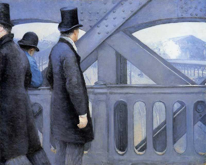 Гюстав Кайботт , «На мосту Европы» 1876 Kimbell Art Museum (United States)
