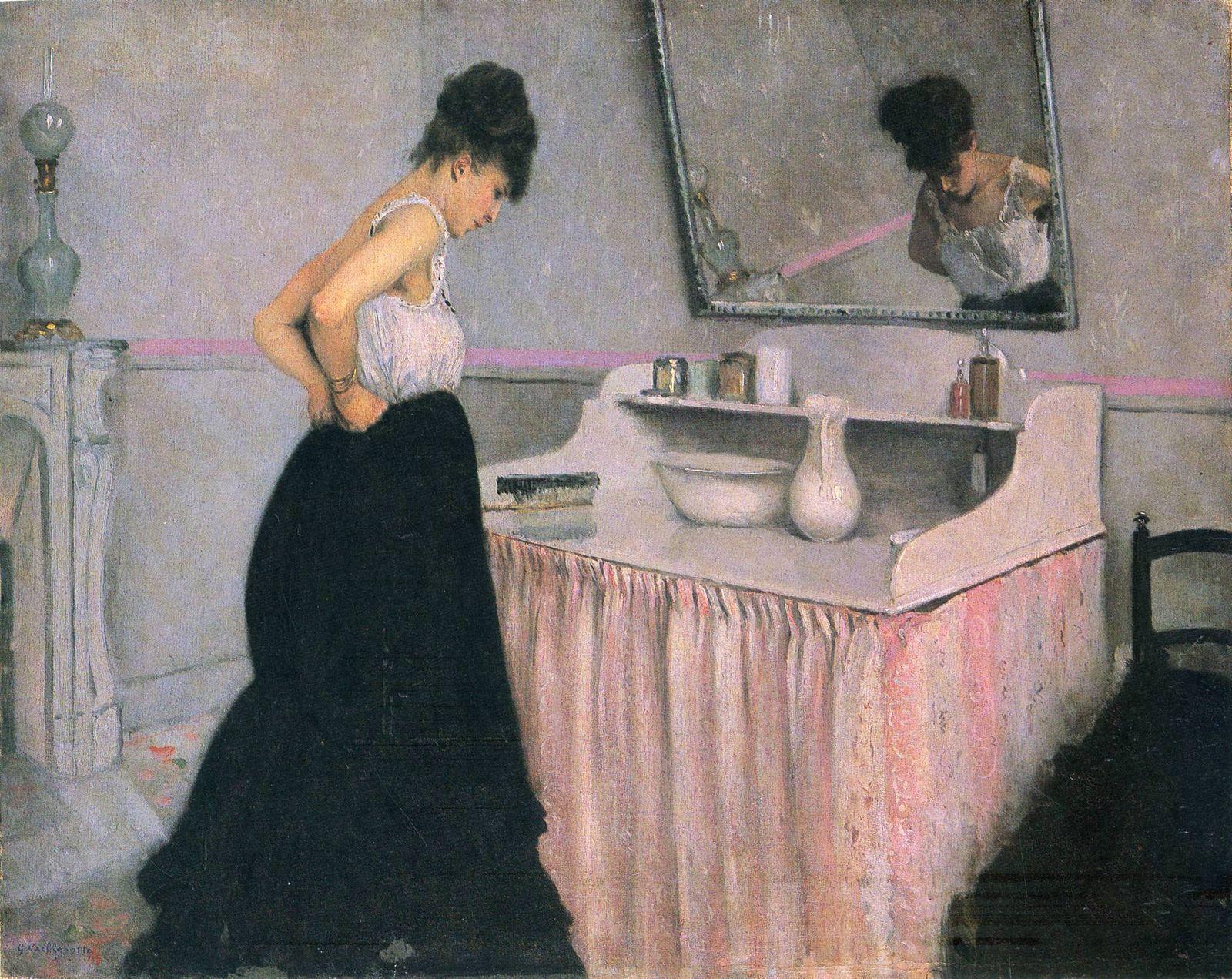 Гюстав Кайботт «Женщина перед туалетным столиком» (1873 65 x 81 см), частная коллекция