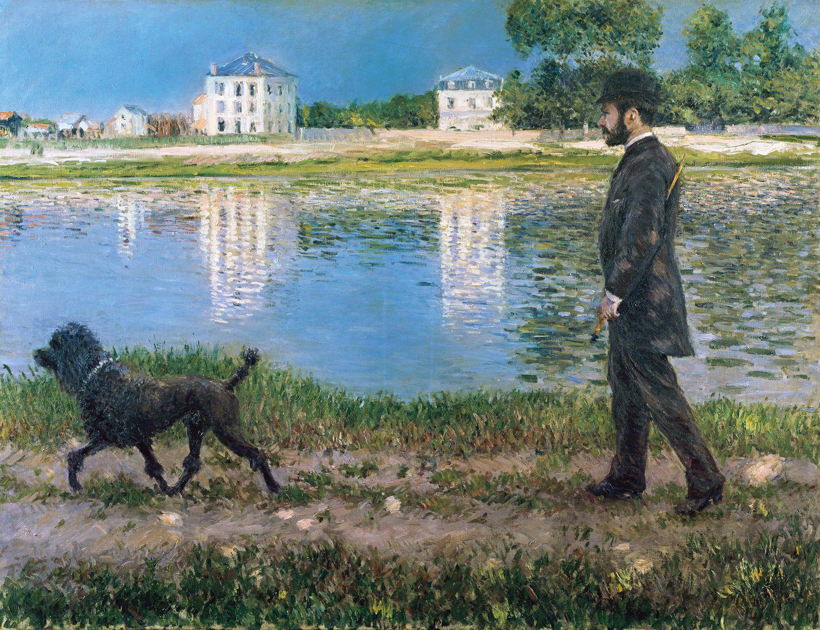 Гюстав Кайботт «Ричард Галло и его собака в Пети-Женвилье» (1884 89 x 116 см) частная коллекция