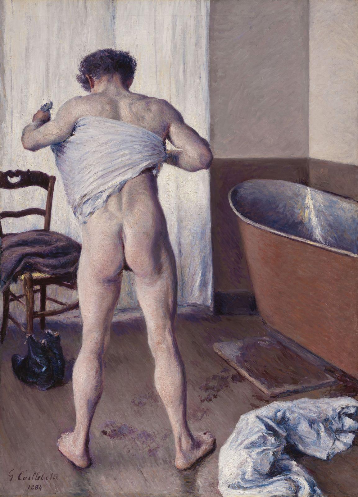 Гюстав Кайботт «Мужчина в ванной» (1884 144.8 x 114.3 см ) Музей изящных искусств, Бостон