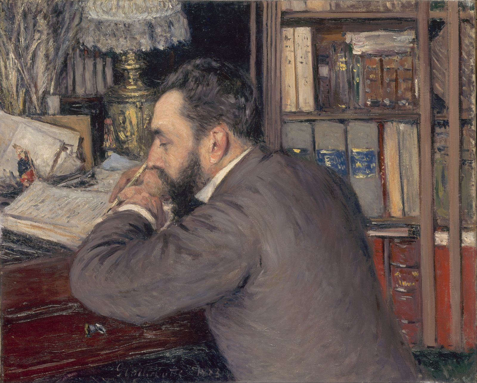 Гюстав Кайботт «Портрет Анри Кордье» (1883 65 x 81.5 см ) Музей Орсе, Париж