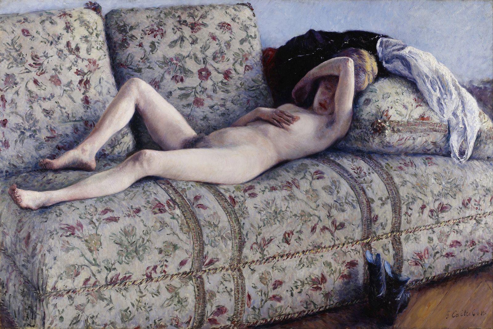 Гюстав Кайботт «Обнаженная на диване» (1880 129.5 x 195.5 см) Институт искусств Миннеаполиса, Миннеаполис